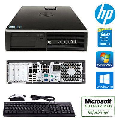 HP Compaq 6200 Pro SFF Desktop Computer Core i5 3.1GHz Quad Core PC Win 7 / 10