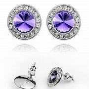 Purple Swarovski Earrings
