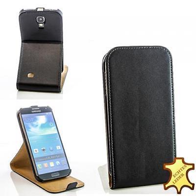 Handy Tasche Smart Cover Für Samsung Galaxy S4 i9500 Schwarz Schutz Hülle Etui