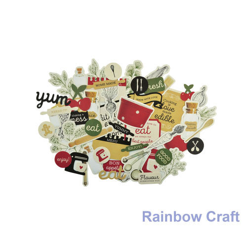 2016-2019 Kaisercraft Die Cuts Scrapbooking collectables 62 option Embellishment - Bon Appetit