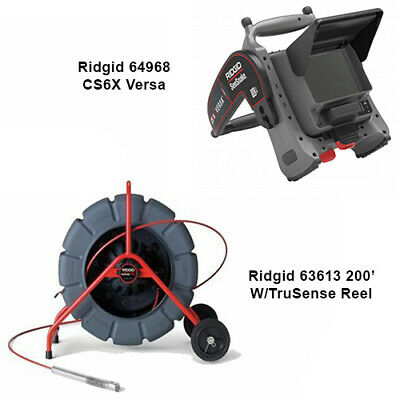 Ridgid 200 With Trusense Reel 63613 Cs6x Versa Monitor 64968