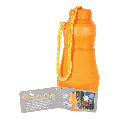 Ultimate Survival FlexWare Water Bottle Orange Collapsible Silicone
