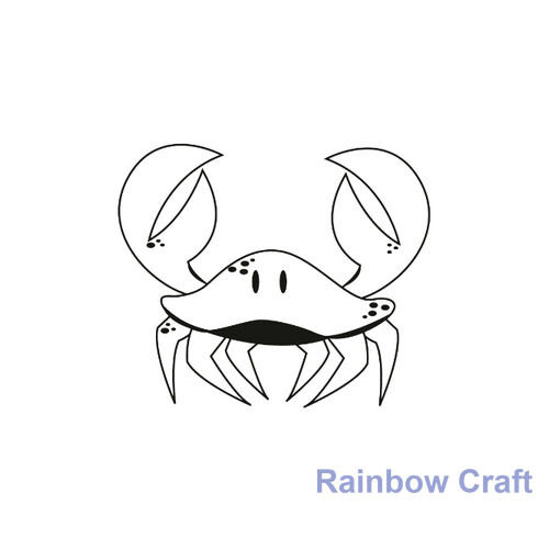 Kaisercraft mini stamps - 26 wording / patterns Scrapbooking card making - Crab