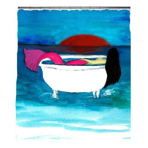 Mermaid shower curtain ebay