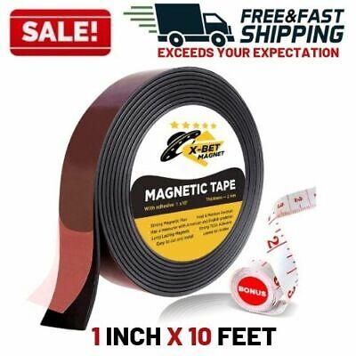 Magnetic Tape Roll Flexible Strip Self Adhesive Craft Diy Fridge Dry Erase Board