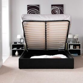 LEATHER STORAGE BED FRAME MATTRES OPTIONAL CASH ON DELIVERY