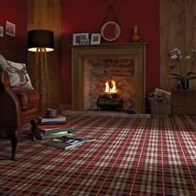 Axminster carpet stately home Edinburgh castle rouge
