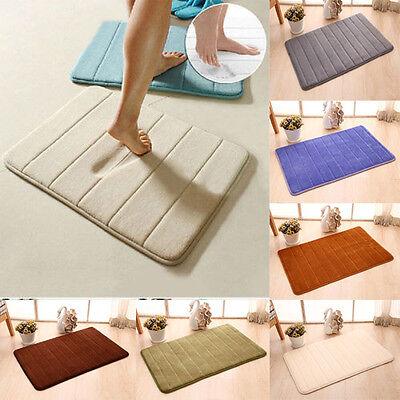 60 40 memory foam vorleger rutschfest badteppich teppich schlafzimmer badezimmer ebay. Black Bedroom Furniture Sets. Home Design Ideas