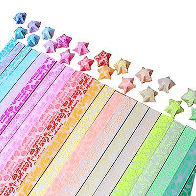 Origami Stars Papers Package (Glows in the dark), 20 Colors, 600 Sheets