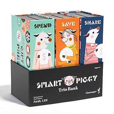 Smart Piggy Trio Bank: 3-in-1 Money-wise Educational