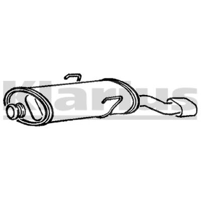 1x KLARIUS OE Quality Replacement Rear / End Silencer Exhaust For CITROËN