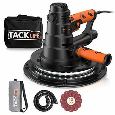 Tacklife Handheld Drywall Sander Automatic Vacuum System Led Light 12 Pcs Sa