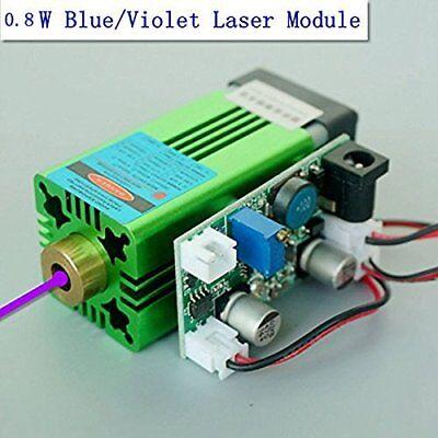 Industrial 405nm 0.8W 800mW Blue/Violet Laser Dot Module 12V /UV Curing 3D Print ()