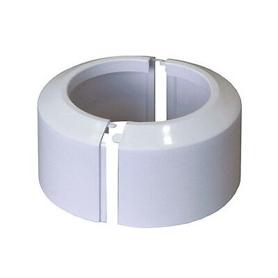 Split Two-Piece White WC Toilet Rosette Soil Pipe Connection Collar Cover 110mm