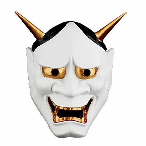 Japanese Noh Mask Women Omen Kabuki Hannya Demon White Cosplay Japan