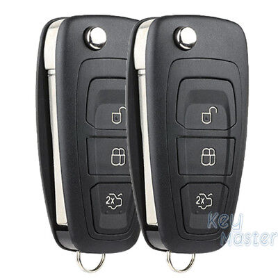 2 Replacement Remote Key Fob for Ford C-Max Focus Grand C-Max Mondeo 2010-2014