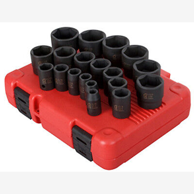 "Sunex 2640 1/2"" Dr. 19 Pc. SAE Impact Socket Set"