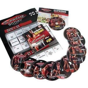 SUPREME  13 DVD SET - GET INSANE ABS W/ SUPREME WORKOUT/ BRAND NEW AS SEEN ON TV