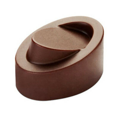 Pavoni Polycarbonate Chocolate Mold Skewed Oval 32x23mm x 19mm High, 21 Cavities 23 Chocolate Mold