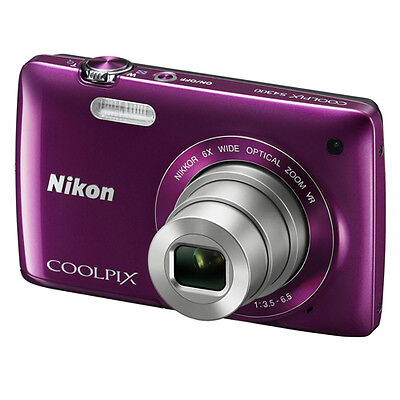Coolpix S2800 20.1 MP Point and Shoot Digital Camera with 5x Optical Zoom (Plum)