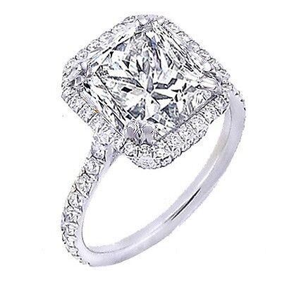1.60 Ct U-Pave Princess Cut Halo Diamond Engagement Ring F,VS1 GIA 14K Gold