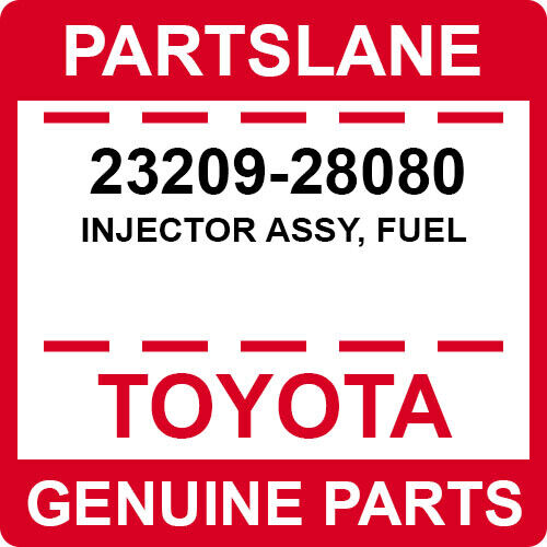23209-28080 Toyota Oem Genuine Injector Assy, Fuel