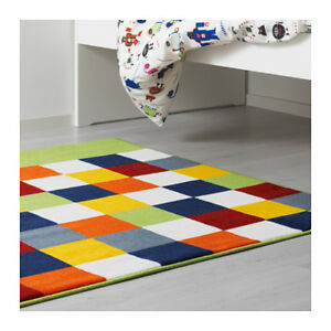 "IKEA Multi-coloured Kids' Rug ""Lattjo"" 4'x4' - Brand New"