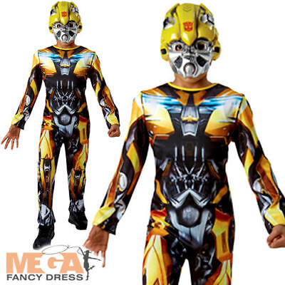 Transformers Bumble Bee Boys Fancy Dress Robot Superhero Movie Child Kid - Transformers Bumble Bee Costume