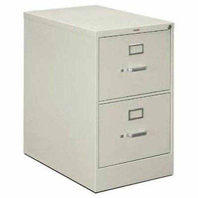 Hon Vertical File - 18.3 X 26.5 X 29 - Metal Aluminum - 2 X File Drawers -