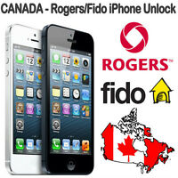 Unlock your Rogers or Fido iPhone for 36$ online in a click !