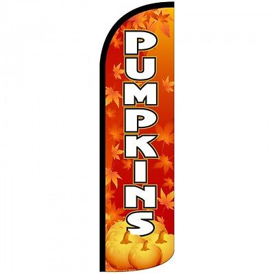 Pumpkins Flag Only Windless Feather Sign Blade Banner Fall Theme Swooper