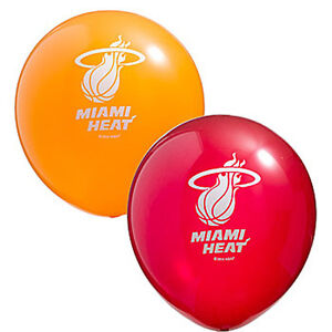NBA MIAMI HEAT LATEX BALLOONS (6) ~ Birthday Party Supplies Decorations Helium