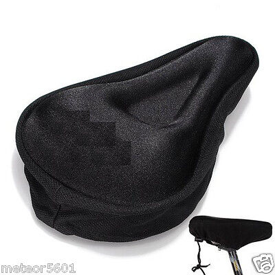 Black Comfortable Durable Bike Bicycle Seat Cover Cushion So
