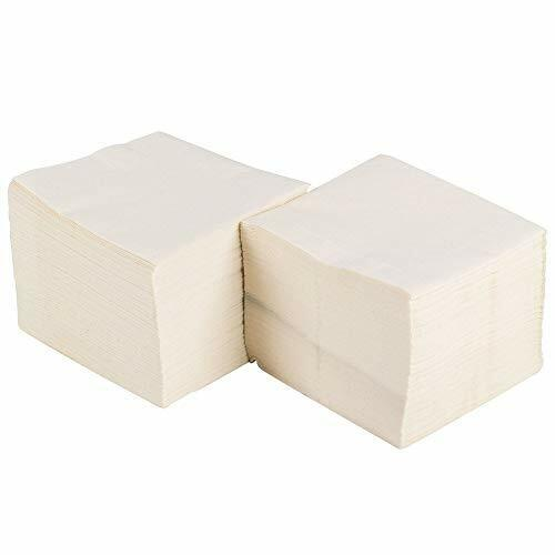 Pantryware Essentials 1 Ply White Beverage Cocktail Napkins - Pack of 500ct