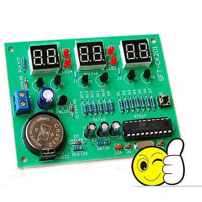 AT89C2051 LED 6-digit LED electronic clock parts Digital Clock kit Only For DIY