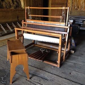 """36"""" LeClerc loom and warping mill"""