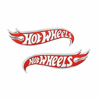 2x Chevy Camaro Hot Wheels Edition Deck Lid Emblem BadgeRed Genuine