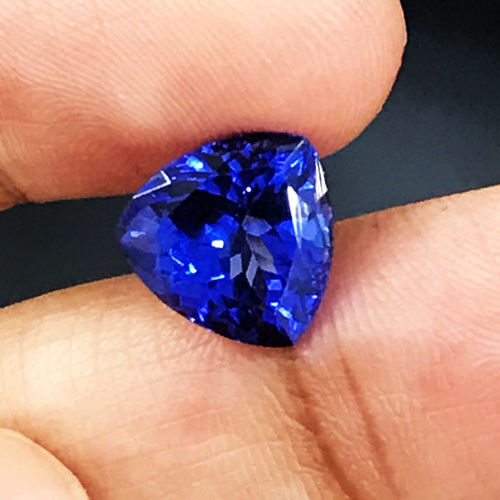 3.44cts AAAA++ Top Quality Natural 9mm  Purple Blue Tanzanite  Loose Gemstone