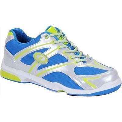 New Size 9.5 Men's Dexter Max Silver/Blue/Lime Bowling Shoes (Dexter Shoes)