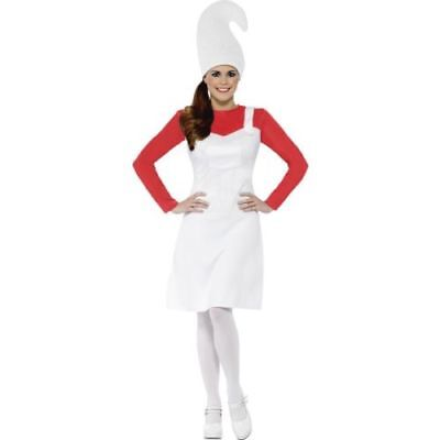 Womens Garden Gnome Costume Red Coral Hen Night Fancy Dress Funny Theme Nights