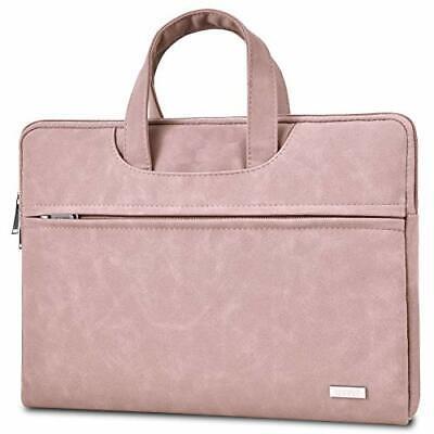 TECOOL 13.3 14 Zoll Laptop Hülle Tasche mit Griff, (13-14 Zoll|Rosa)