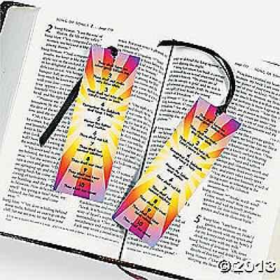 Ten Commandments Bookmarks 12 Piece Party Favors - 36/16420