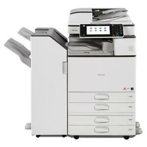LEASE 2 OWN ONLY $75/ Month REPOSSESSED Ricoh Monochrome Multifunction Printer MP 2554 Color Scanner 11x17 Finisher
