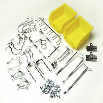 Durahook Locking Pegboard System 26 Piece Kit Hook Bin Wall Storage Organizer