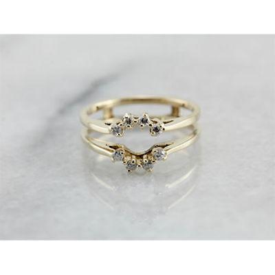 0.42 Ct Round Diamond Engagement Wedding Enhancer Wrap Ring 10K Yellow Gold Over 10 Ct Diamonds Ring