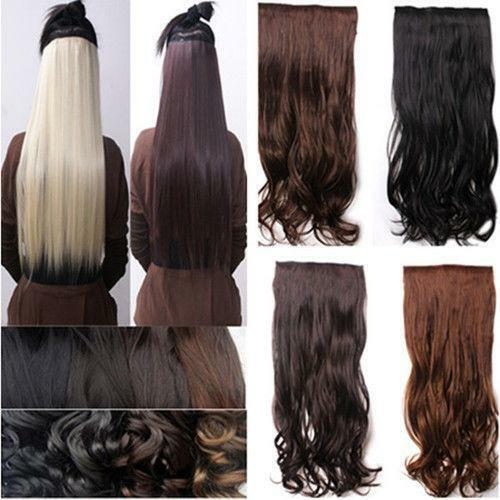 Clip In Human Hair Extensions White Ebay