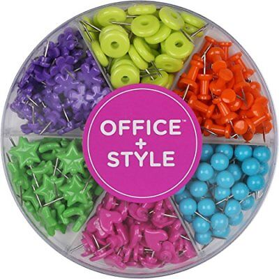 Decorative Multi-colored Shaped Push Pins For Home Office- By Office Style