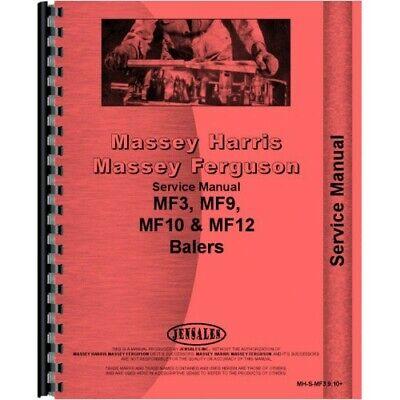 Massey Ferguson 10 12 3 9 Baler Service Manual Mh-s-mf3910
