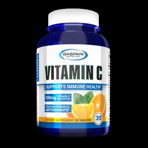 Vitamin C 500mg - 1000mg 30 Tablets 30 Serving Pharmaceutical Grade USA Gaspari