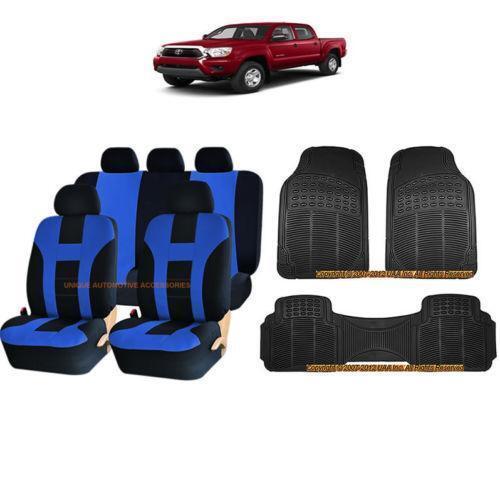 Blue Car Seat Cover Set